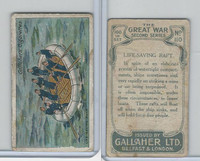 G12-19 Gallaher, The Great War, 1915, #110 Life Saving Raft