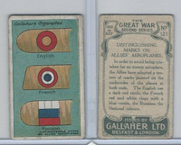 G12-19 Gallaher, The Great War, 1915, #121 Marks On Allies Aeroplanes