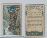 G12-19 Gallaher, The Great War, 1915, #128 Italian Ambulance