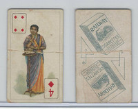 I8-3 Imperial India, Playing Cards, 1907, Railway Cigarettes, Diamond 4