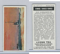 L0-0 Lyons Tea, Warships HMS 1902-1962, 1965, #10 HM Submarine E7