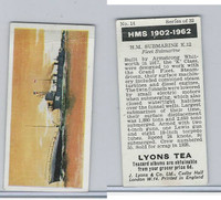 L0-0 Lyons Tea, Warships HMS 1902-1962, 1965, #14 HM Submarine K12