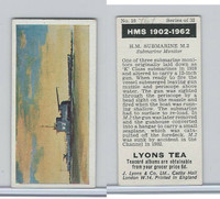 L0-0 Lyons Tea, Warships HMS 1902-1962, 1965, #16 HM Submarine M2