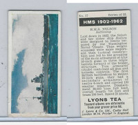 L0-0 Lyons Tea, Warships HMS 1902-1962, 1965, #17 HMS Nelson