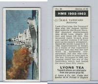 L0-0 Lyons Tea, Warships HMS 1902-1962, 1965, #23 HMS Vanguard