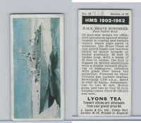 L0-0 Lyons Tea, Warships HMS 1902-1962, 1965, #27 HMS Brave Borderer