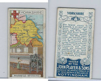 P72-28a Player, Counties & Industry, 1914, Yorkshire, Worsted Spinning