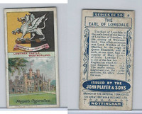 P72-30 Player, Country Seats & Arms, 1909, #8 Earl Of Lonsdale