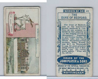 P72-30 Player, Country Seats & Arms, 1909, #40 Duke Of Bedford