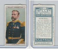 W62-91 Wills, Naval Dress & Badges, 1909, #4 Admiral