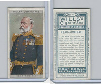 W62-91 Wills, Naval Dress & Badges, 1909, #7 Rear Admiral
