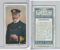 W62-91 Wills, Naval Dress & Badges, 1909, #10 Commodore