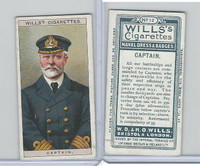 W62-91 Wills, Naval Dress & Badges, 1909, #12 Captain