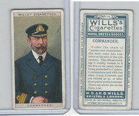 W62-91 Wills, Naval Dress & Badges, 1909, #14 Commander