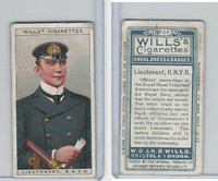 W62-91 Wills, Naval Dress & Badges, 1909, #23 Lieutenant R.N.V.R.