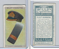W62-91 Wills, Naval Dress & Badges, 1909, #26 Fleet Surgeon