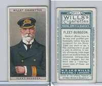 W62-91 Wills, Naval Dress & Badges, 1909, #27 Fleet Surgeon