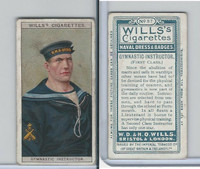 W62-91 Wills, Naval Dress & Badges, 1909, #37 Gymnastic Instructor
