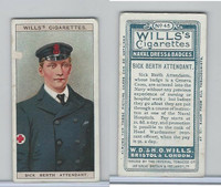 W62-91 Wills, Naval Dress & Badges, 1909, #45 Sick Berth Attendant