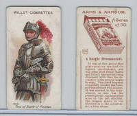 W62-213 Wills, Arms & Armour, 1910, #28 Knight Dismounted