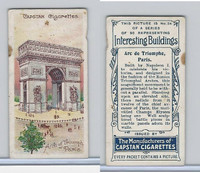 W62-228 Wills, Interesting Buildings, 1905, #34 Arc de Triomphe, Paris
