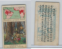 W62-320 Wills, Products of World, 1913, #10 Tapping Rubber Tree