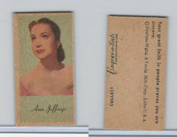 UW4 Peerless, Movie Stars Color Series, 1940's, Ann Jeffreys