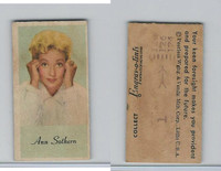 UW4 Peerless, Movie Stars Color Series, 1940's, Ann Sothern