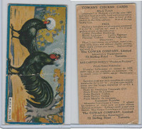 V12 Cowan, Chicken Cards, 1924, Black Polish