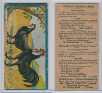 V12 Cowan, Chicken Cards, 1924, Black Spanish