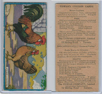 V12 Cowan, Chicken Cards, 1924, Brown Leghorn