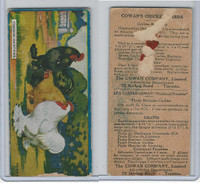V12 Cowan, Chicken Cards, 1924, Cochin Bantams