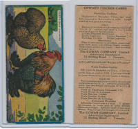 V12 Cowan, Chicken Cards, 1924, Partridge Cochins