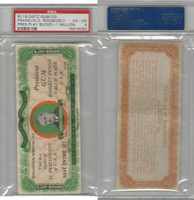 R118 Dietz, Presidents Play Bucks, 1937, Franklin Roosevelt $1M, PSA 4 VGEX