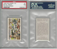 G12-94 Gallaher, Racing Scenes, 1938, #1 Royal Ascot, PSA 7 NM
