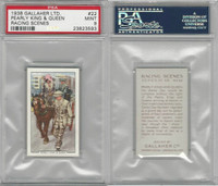 G12-94 Gallaher, Racing Scenes, 1938, #22 Pearly King Queen, PSA 9 Mint