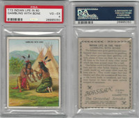 T73 Hassan, Indian Life, 1910, Gambling with Bone, PSA 4 VGEX