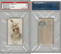 E46 Philadelphia Caramel, Indian Pictures, 1911, Big Bear, PSA 3 VG
