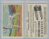 D39-3a, Gordon Bread, Dog Pictures, 1940's, Dalmatian