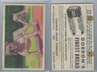 D39-3a, Gordon Bread, Dog Pictures, 1940's, English Bulldog