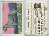 D39-3a, Gordon Bread, Dog Pictures, 1940's, Irish Wolfhound