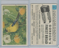 D39-11 Gordon Bread, Bird Pictures, 1950, American Goldfinch