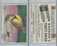 D39-11 Gordon Bread, Bird Pictures, 1950, Meadow Lark
