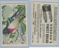 D39-11 Gordon Bread, Bird Pictures, 1950, Rose Breasted Grosbeak