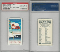2007 Topps, A&G Flags Of All Nations, Greenland, PSA 10 Gem