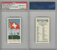 2007 Topps, A&G Flags Of All Nations, Switzerland, PSA 10 Gem