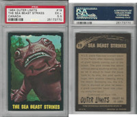 1964 O-Pee-Chee, Outer Limits, #19 The Sea Beast Strikes, PSA 5.5 EX+