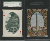 PL Card, Chisholm, Historic Boston, 1897, D10, Wright Tavern, SGC 96 Mint