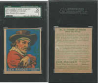 V359-2 World Wide Gum, Sea Raiders (French), 1933, #31 Le Grand, SGC 30
