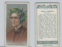 P72-194 Player, Leaders of Men, 1925, #14 Dante Allghieri